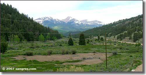 The main road into Bonanza, Colorado