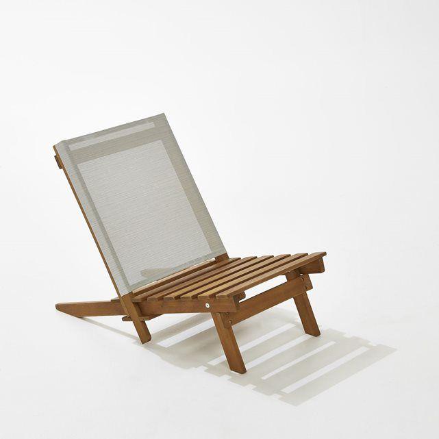 chaise basse de plage acacia la redoute interieurs - Chaise Basse