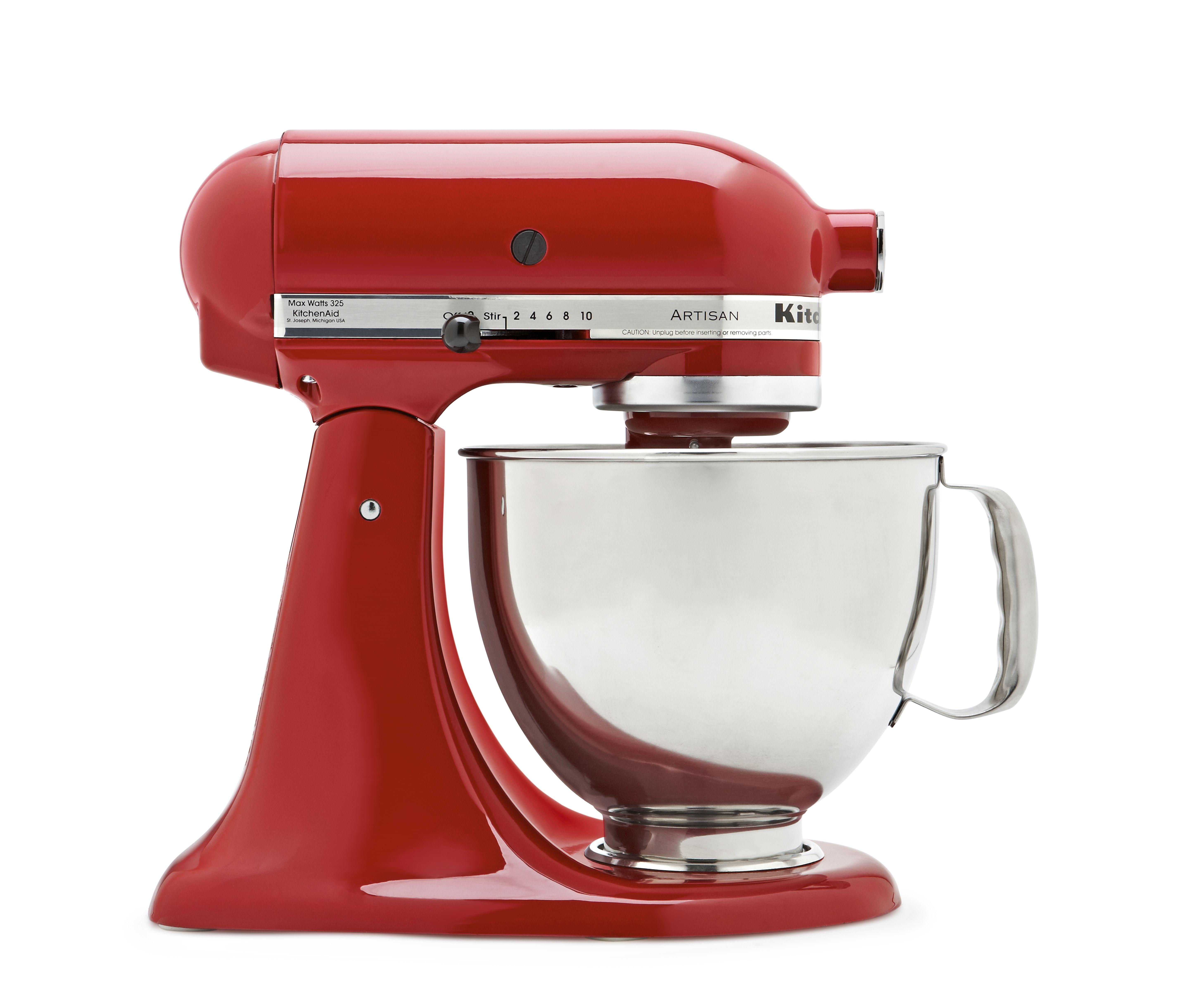 kitchenaid mixing bowl set red