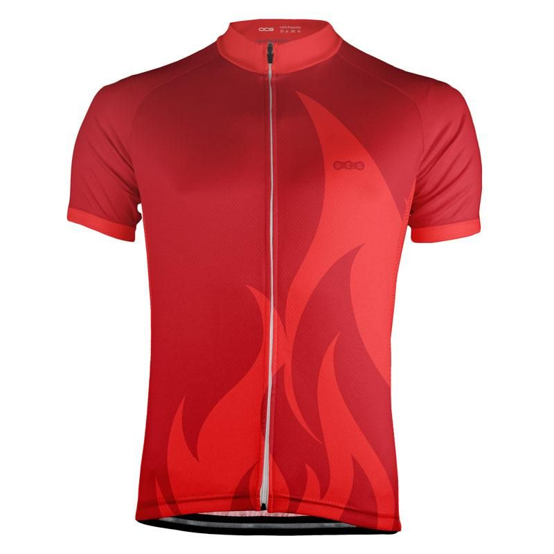 Element Series Fire Red Cycling Jersey Cycling Jerseys Cycling