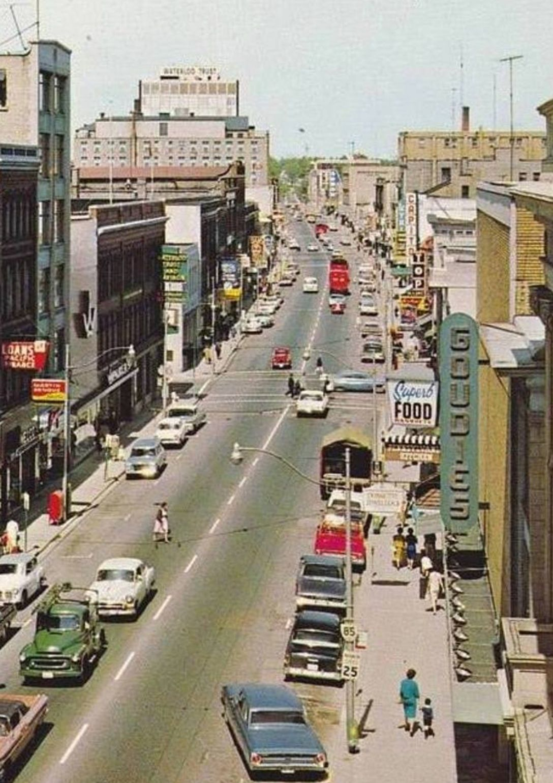 stores kitchener waterloo king st kitchener goudies dept store on right canada