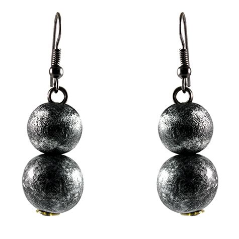Black Silver Dangle Earrings - Best selection of Tunics & matching accessories - join us on facebook https://www.facebook.com/ilovetunics