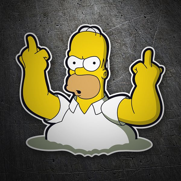 Homer fuck pegatinas