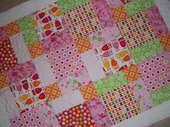 Free Nine Block Quilt Patterns | Owl, Magic 9 Block Baby Quilt ... : baby block quilt - Adamdwight.com