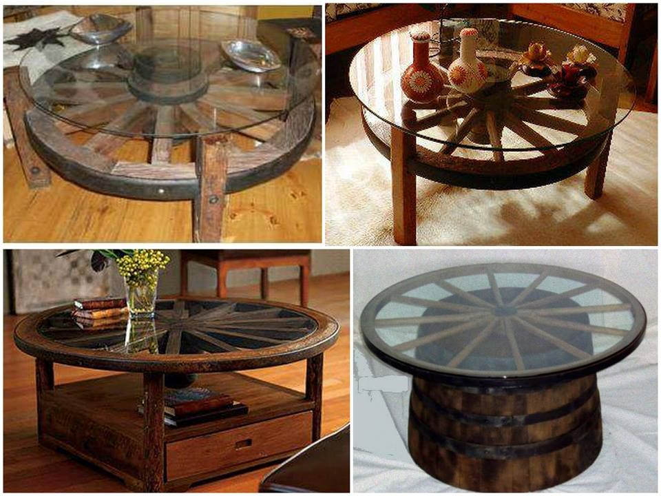 An Old Cartwheel To Coffee Table