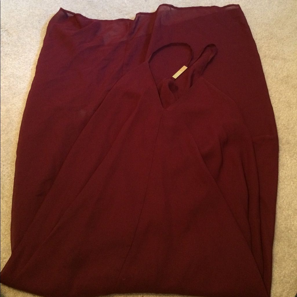 Dark red long dress products