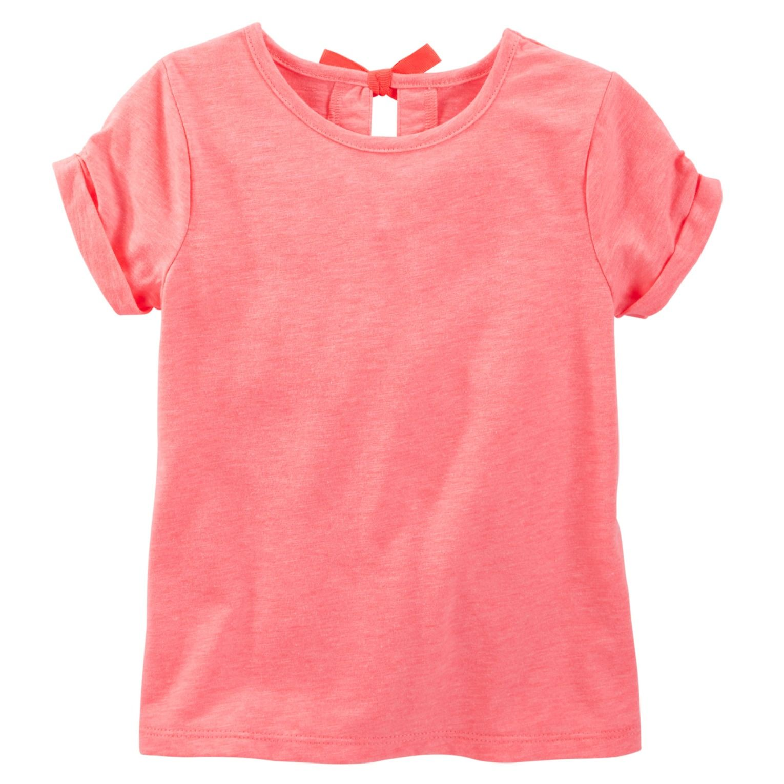Featuring A Keyhole With A Bow At The Back, This Soft Tee