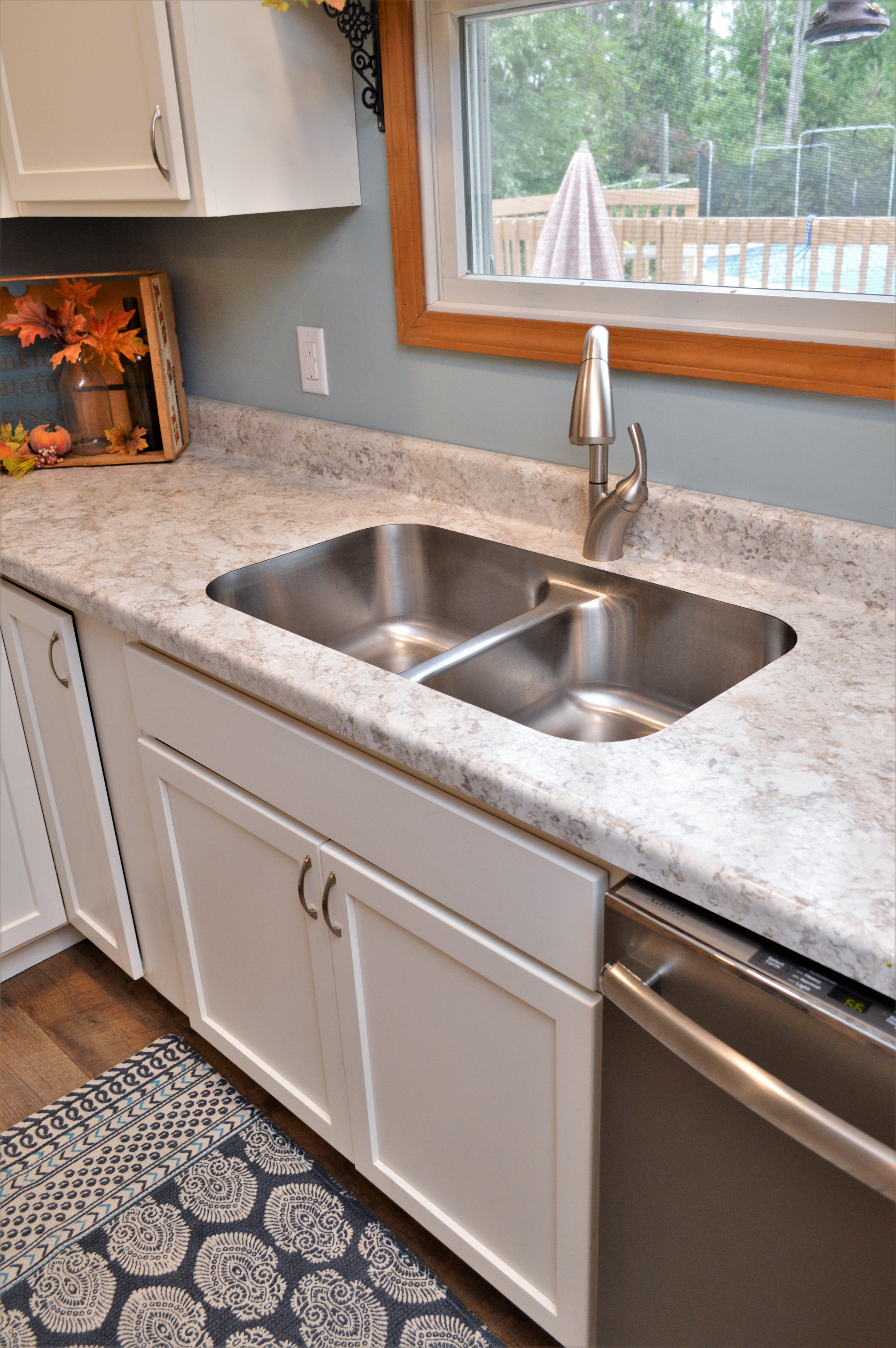 Bailey's Cabinets, Karran Stainless Steel Sink, Equal Bowl