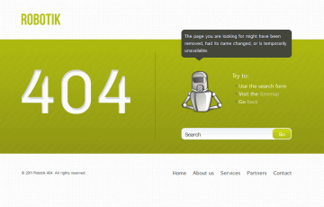 Free 404 Error Page Html Template