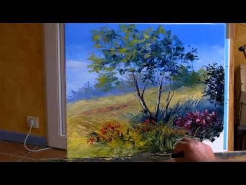 Sous Les Arbres 3 3 Pascal Clus Peinture Au Couteau Painting