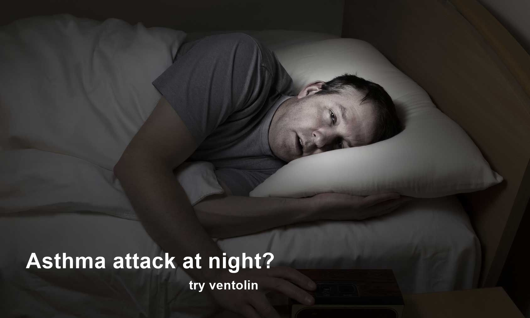 Nocturnal asthma, with symptoms like chest tightness