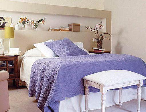 Resultado de imagen de cabeceras de cama de yeso for Cuartos decorados con yeso