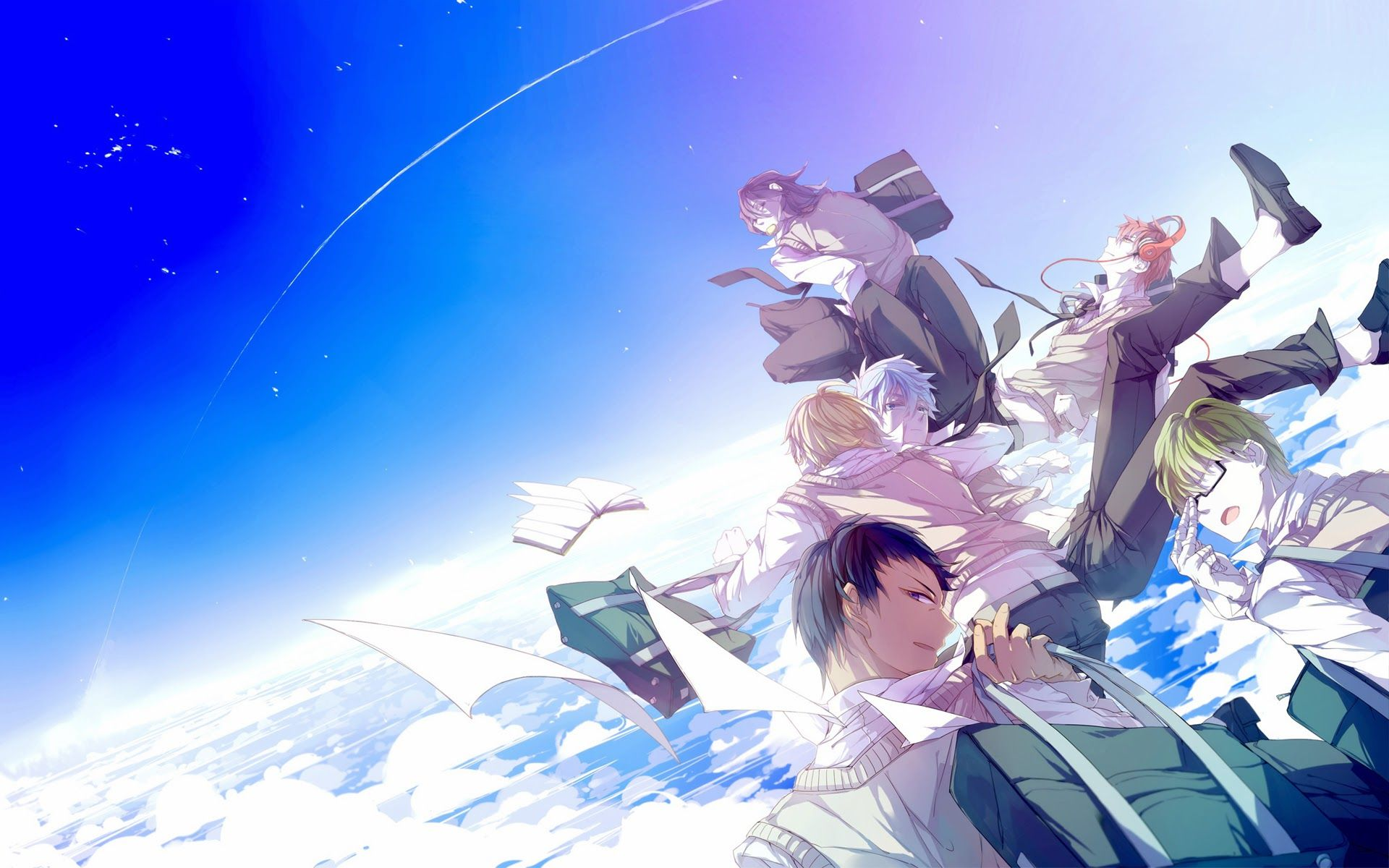Kuroko no basuke hd wallpaper generation of miracles in their kuroko no basuke hd wallpaper generation of miracles in their school uniform voltagebd Choice Image
