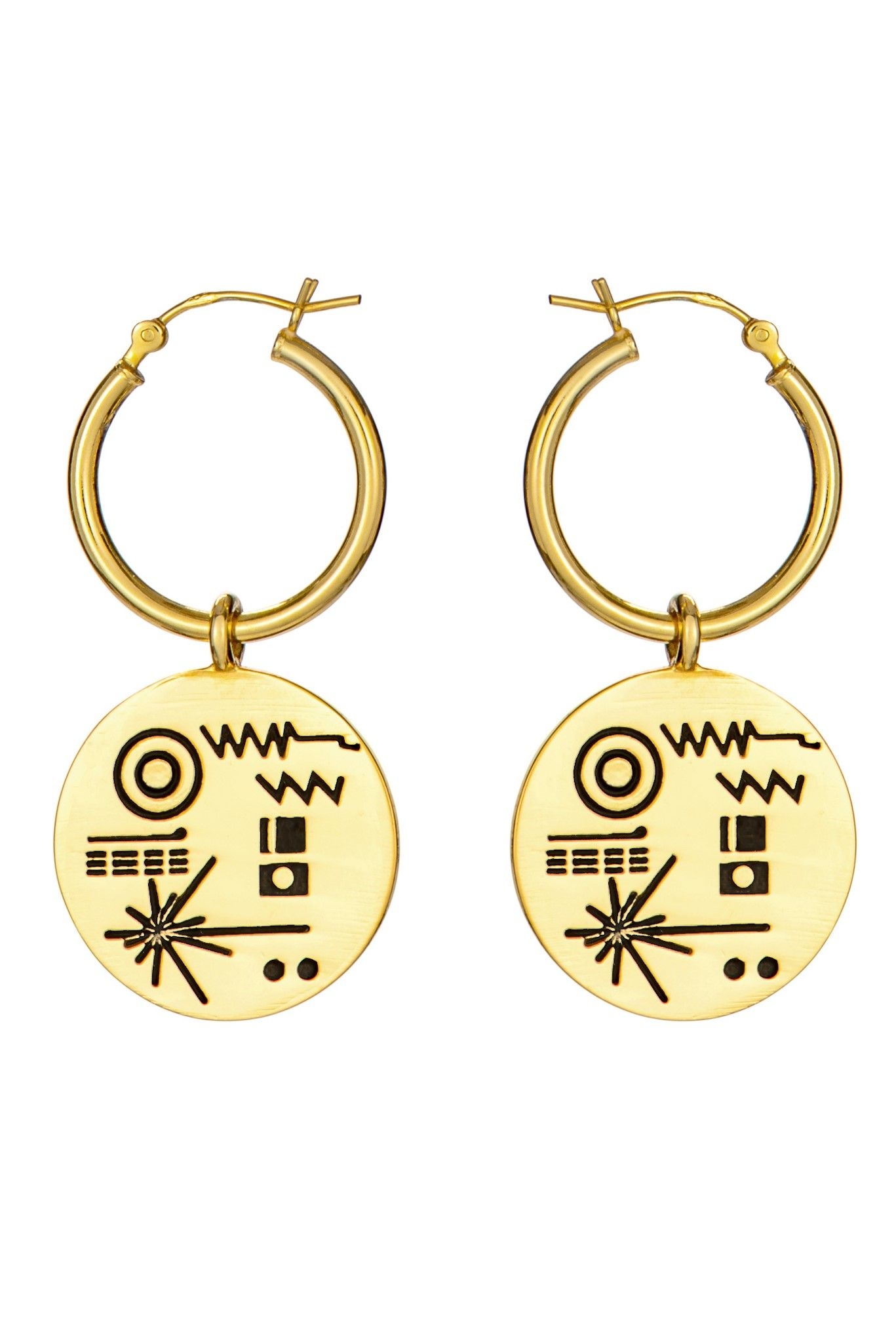 00193f241 Golden Record Earrings | Little Rooms | Earrings, Jewelry ...