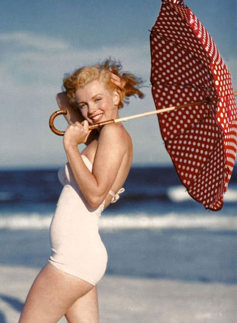8072b581eda vintage everyday: 40 Iconic Moments of Marilyn Monroe in Bikini and Swimsuit  from between the 1940s and 1960s