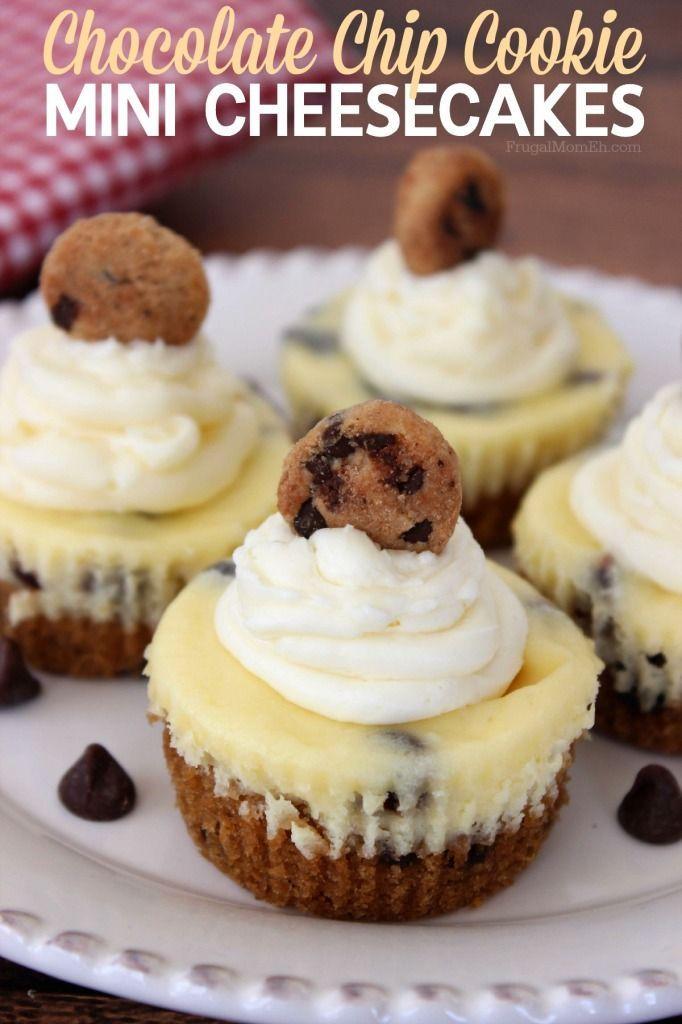 Chocolate Chip Cookie Mini Cheesecakes - Life Love Liz