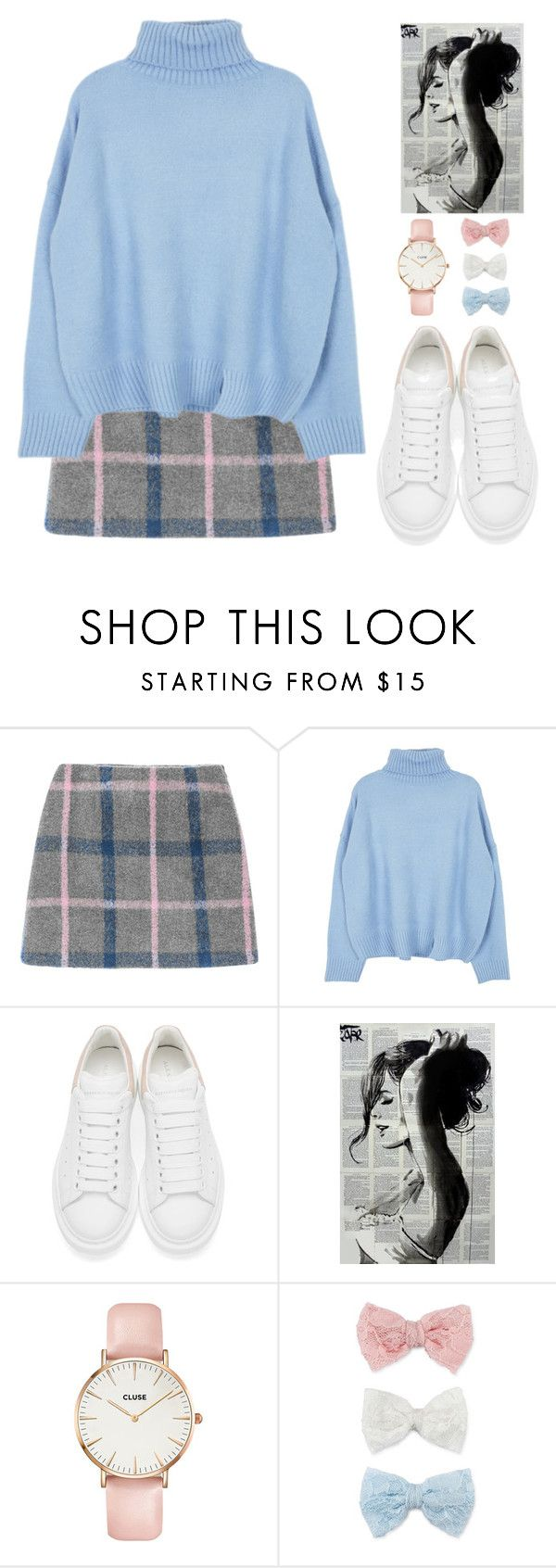 """trying hard not to fall on the way home."" by taylorjamiexo ❤ liked on Polyvore featuring Alexander McQueen, CLUSE and Decree"