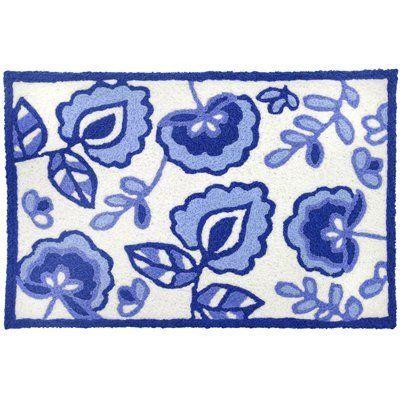 Blue Garden Doormat Jellybean Rug By Home Comfort 34 99 Rugs Wash Better