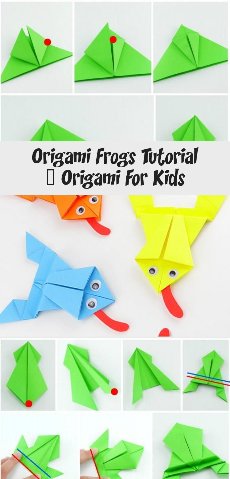 Photo of Origami Frösche Tutorial – Origami für Kinder #origamiCajas #origamiAnimals #origami …