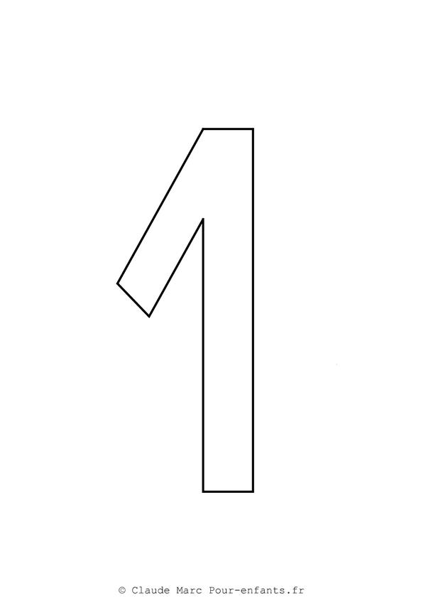 Chiffre 1 ma kreche pinterest math pre school et school - Chiffre a imprimer ...