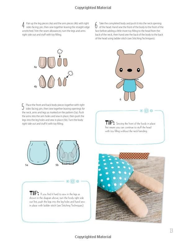 Sew Cute to Cuddle: 12 Easy Soft Toys and Stuffed Animal Sewing ...