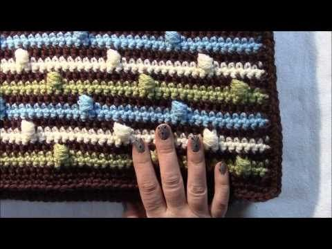 ▶ Joseph's Puff Stitch Blanket - YouTube