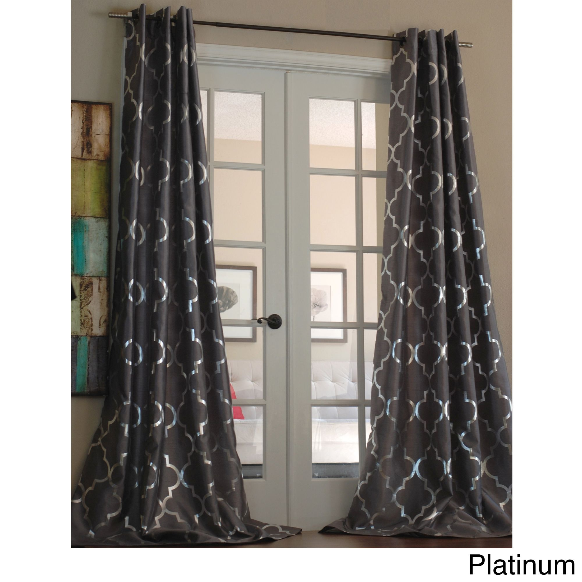 rare trellis design patternsheer pairing sheer semi raretains with picture patterned curtains pattern inspirations curtain leaf grommet this and top