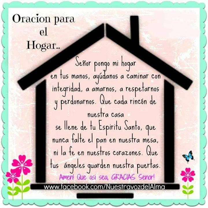 Oracion Para El Hogar Oraciones Oracion Para El Hogar