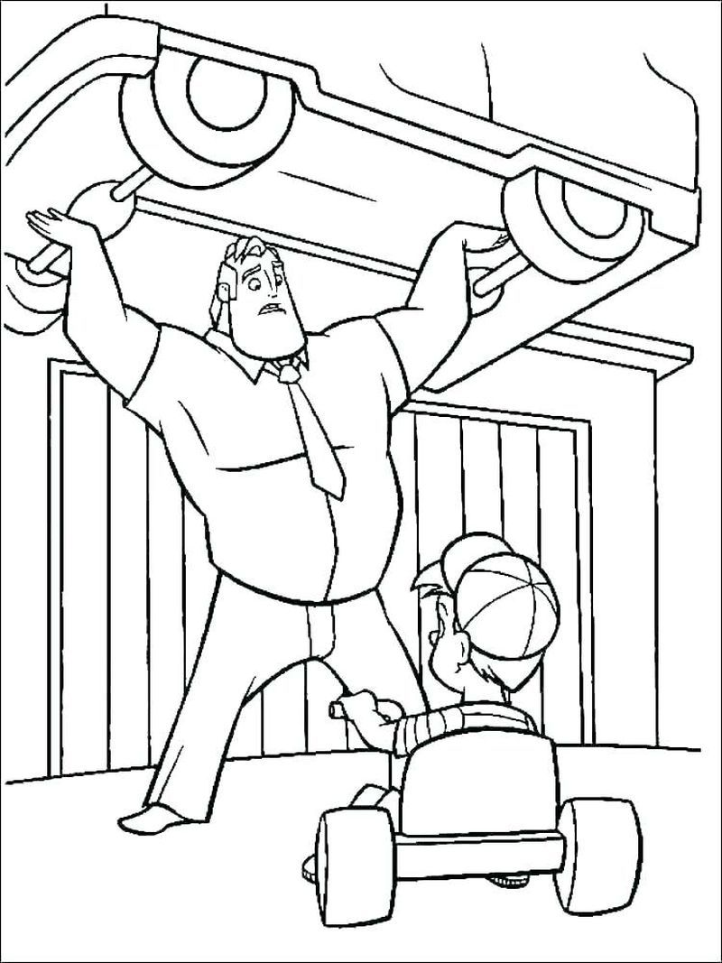 Printable Incredibles Coloring Pages in 2020 Super