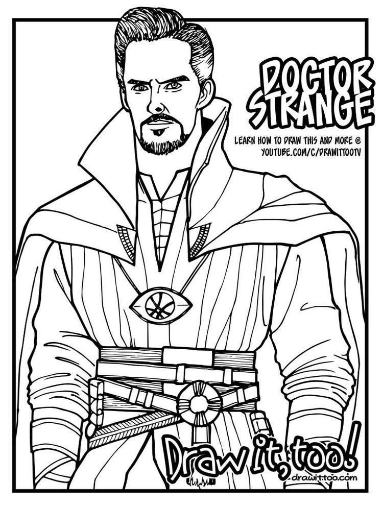 Dr Strange Coloring Page For Kids Superhero Coloring Pages Superhero Coloring Marvel Coloring