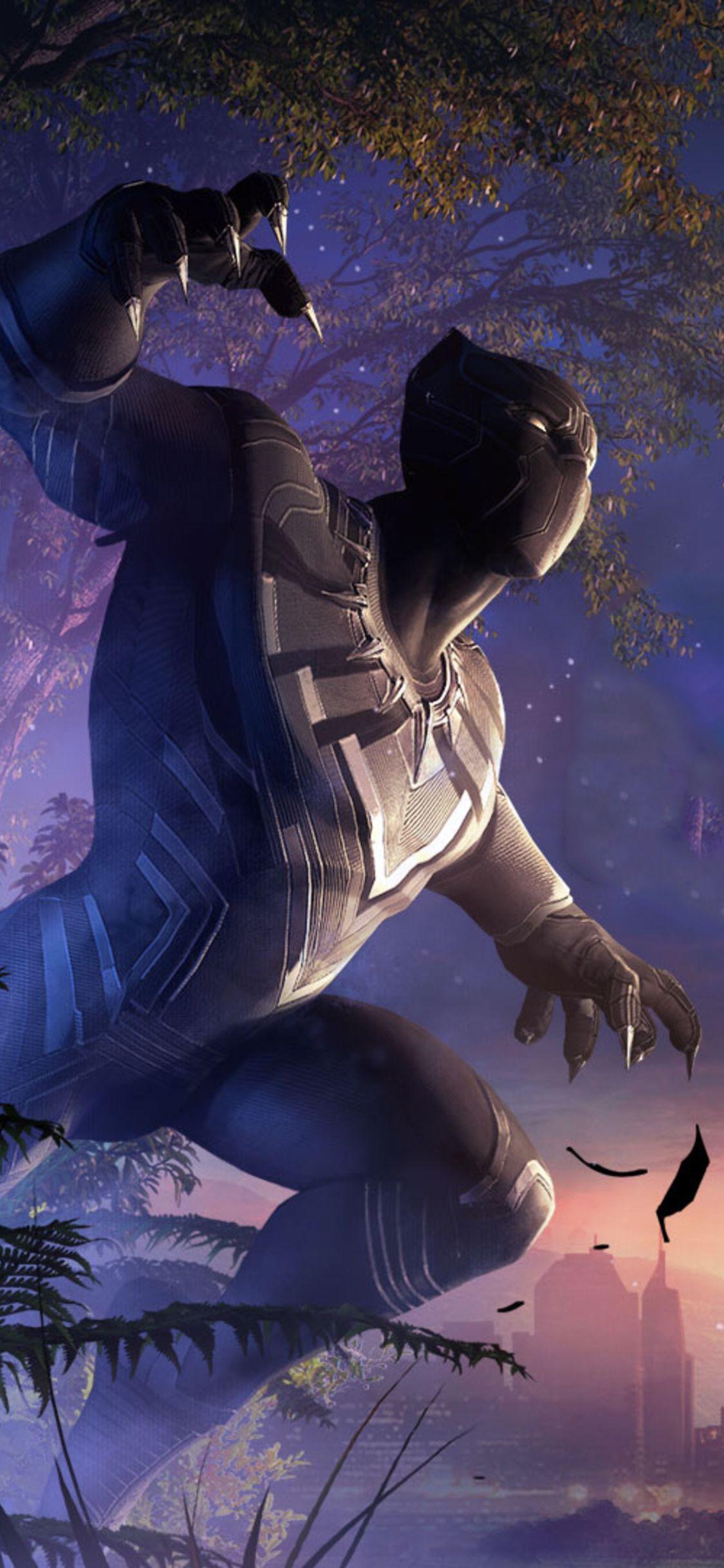 1125x2436 Black Panther And Erik Killmonger Marvel Contest Of