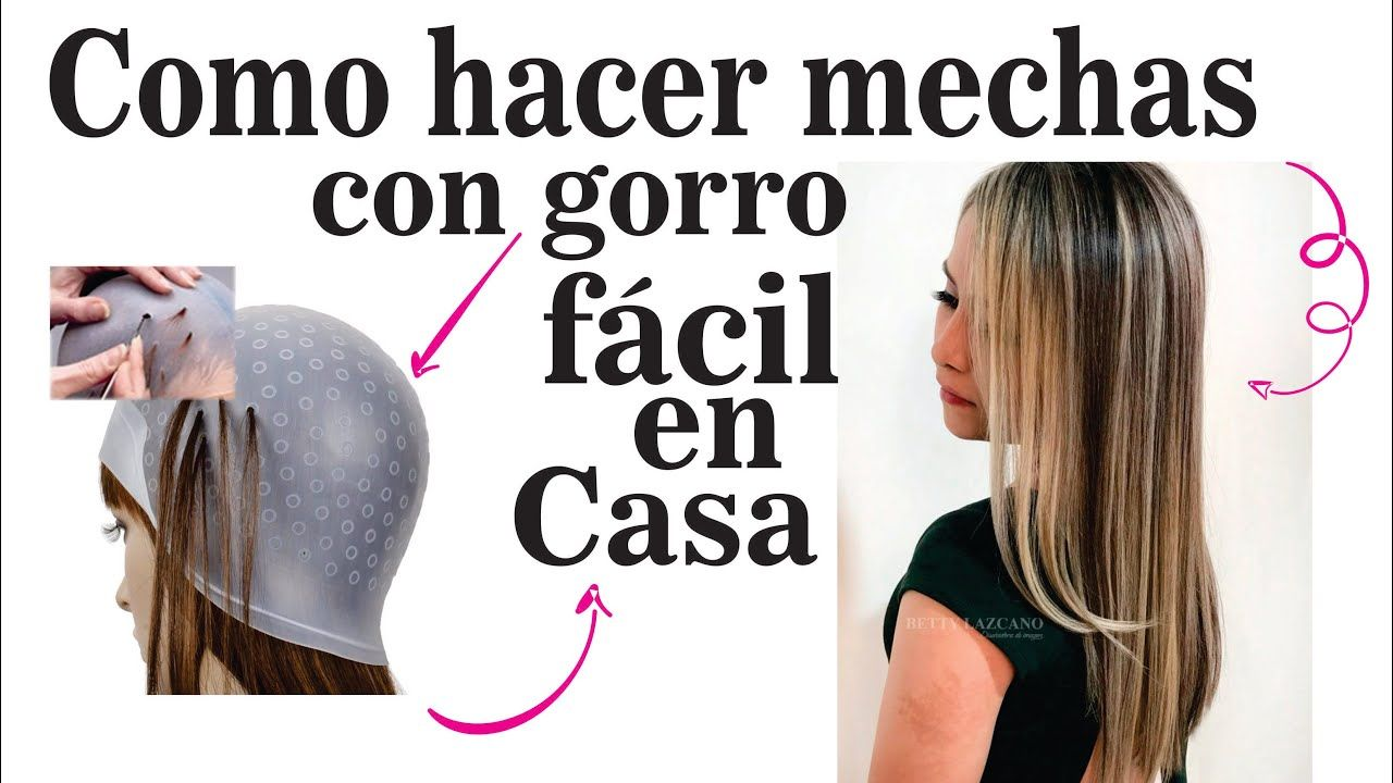 COMO HACER MECHAS CON GORRO FACIL EN CASA..HOW TO MAKE HITS WITH EASY HAT  AT HOME - YouTube a3446cb3bad