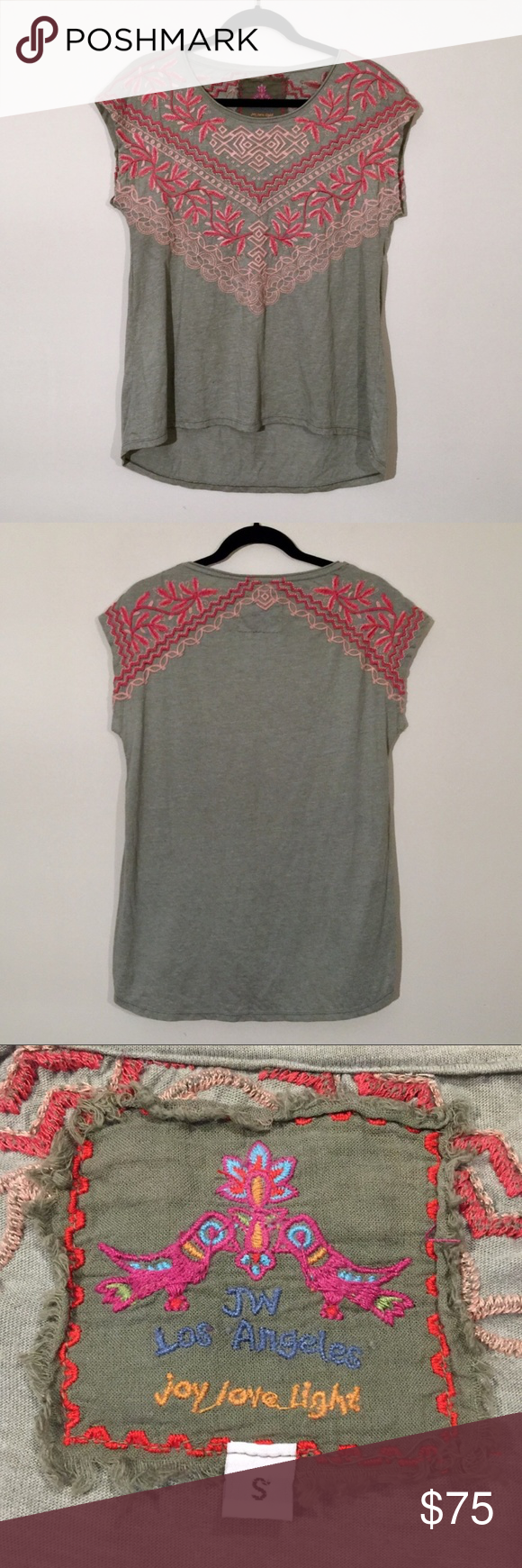 Best Johnny Was Embroidered Gray Tunic Shirt Johnny Was 400 x 300