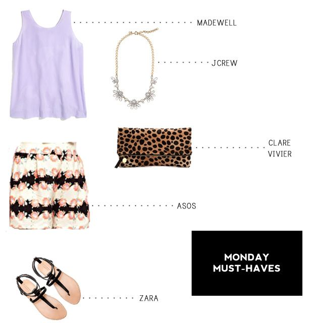 Monday Must-Haves featuring Madewell // J.Crew // Clare Vivier // ASOS // Zara