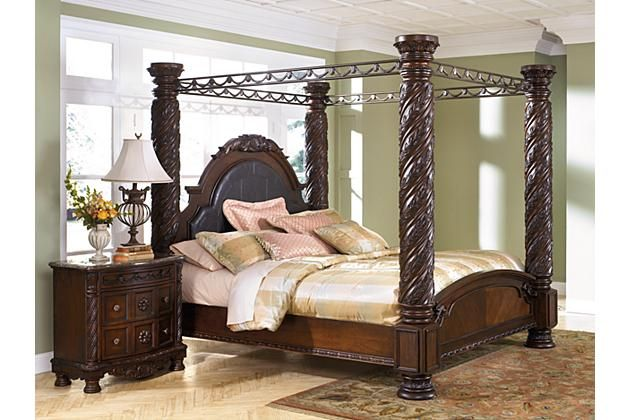 Dark Brown North Shore King Canopy Bed View 1 Dream Home