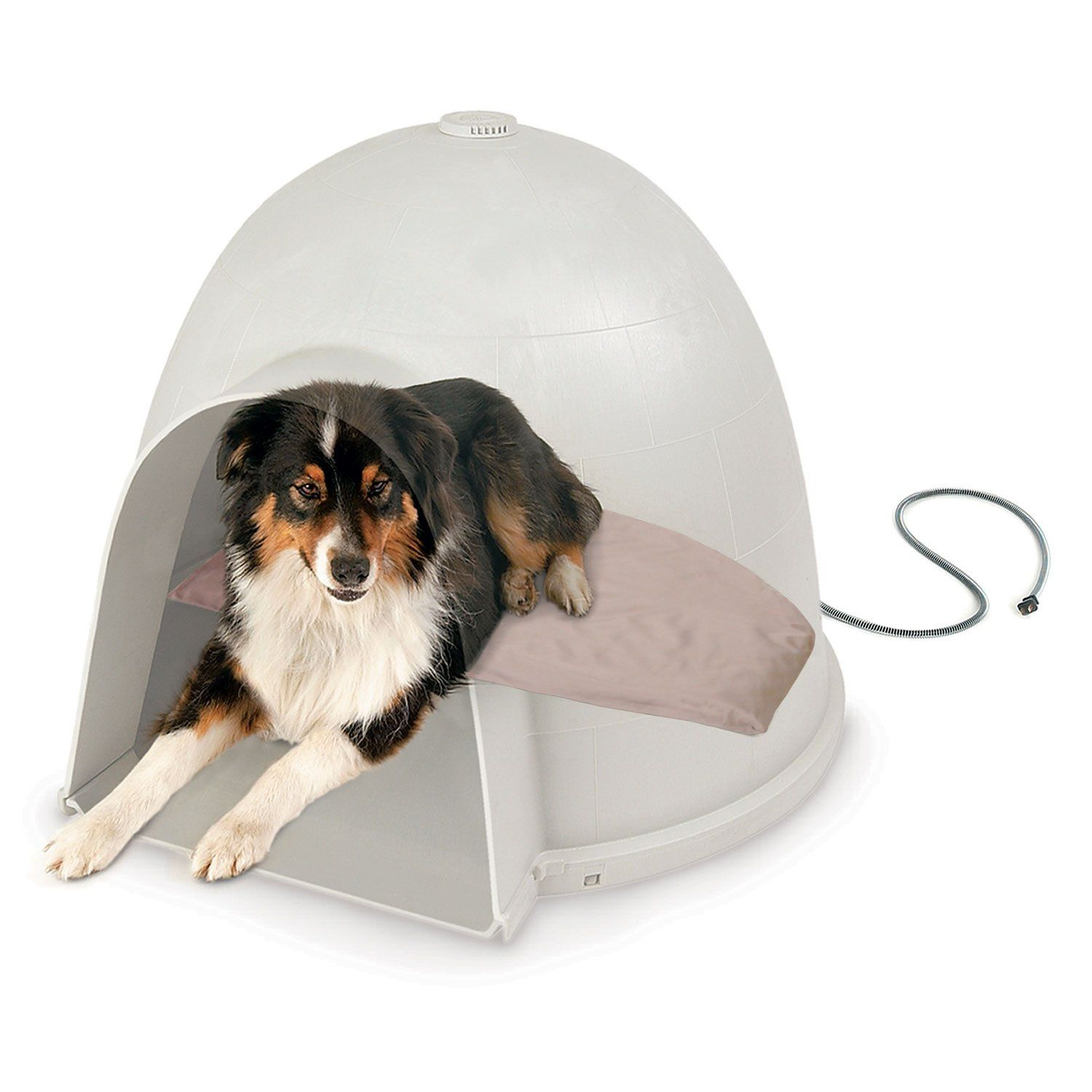 K H Lectro Soft Igloo Style Heated Dog Bed 14 5 L X 24 W