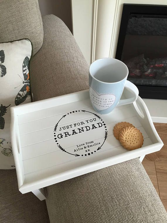 Our Adorable Sofa Arm Rest Tray Makes Perfect Gift Measuring At 12 X 8 Approx Can Also Be Used As A Normal With Images Vinyl Gifts Couch Tray Personalised Gifts Handmade