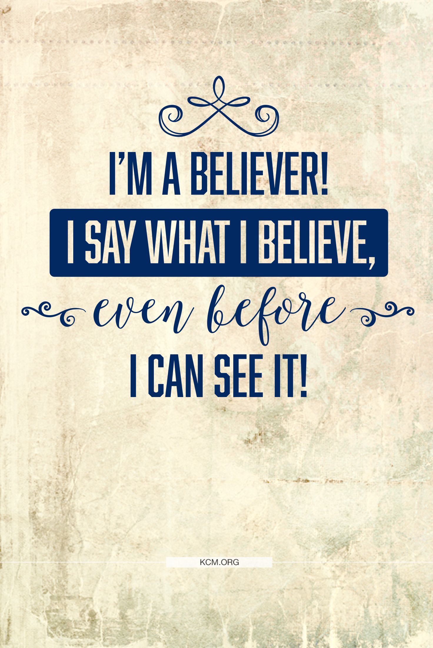 Walk by faith and not by sight! #KCM #inspiration #believer #faith