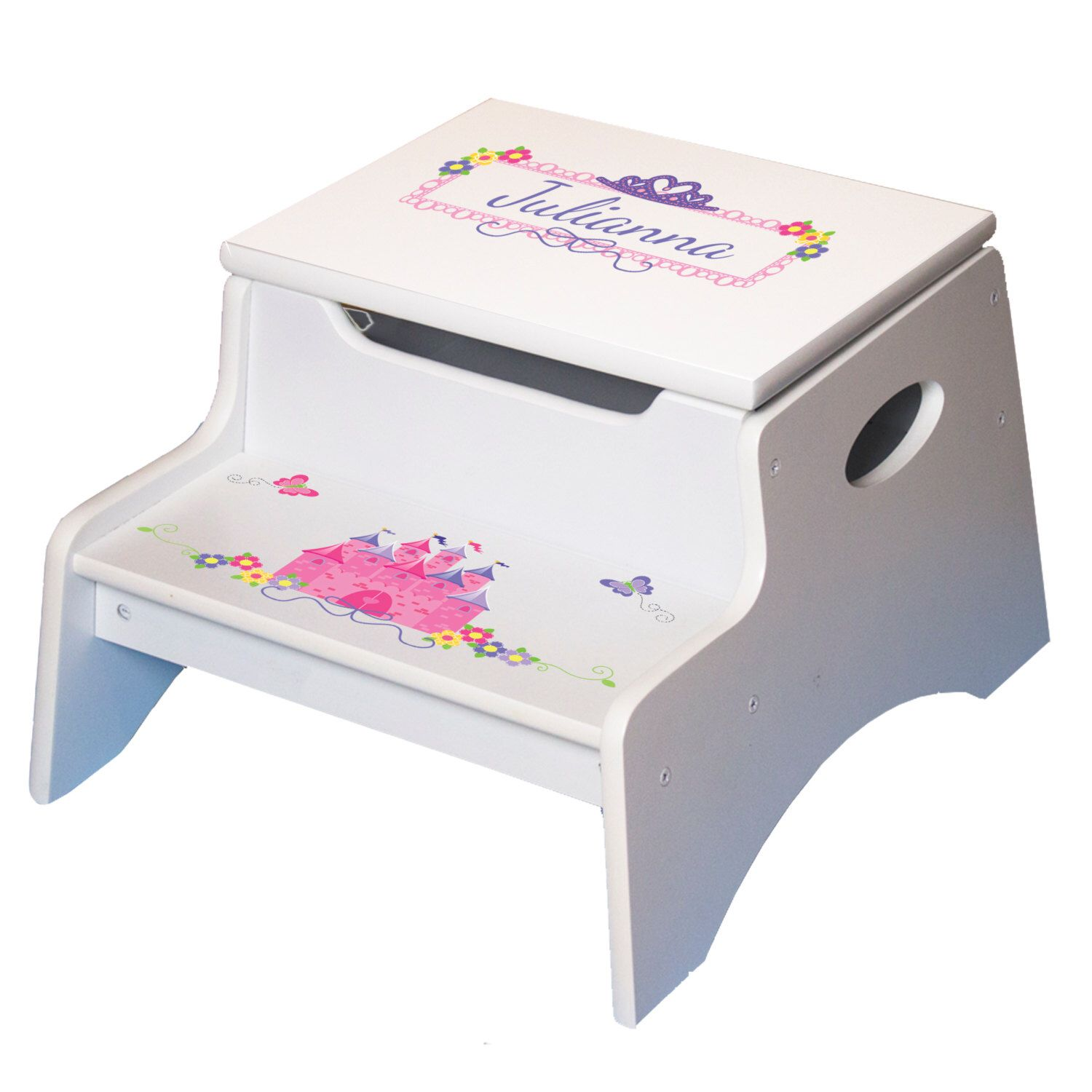 Girls Personalized Princess Step Stool w Storage Childs Wood Step N Stool Toddlers Baby Gift Frozen  sc 1 st  Pinterest & Girls Personalized Princess Step Stool w Storage Childs Wood Step ... islam-shia.org