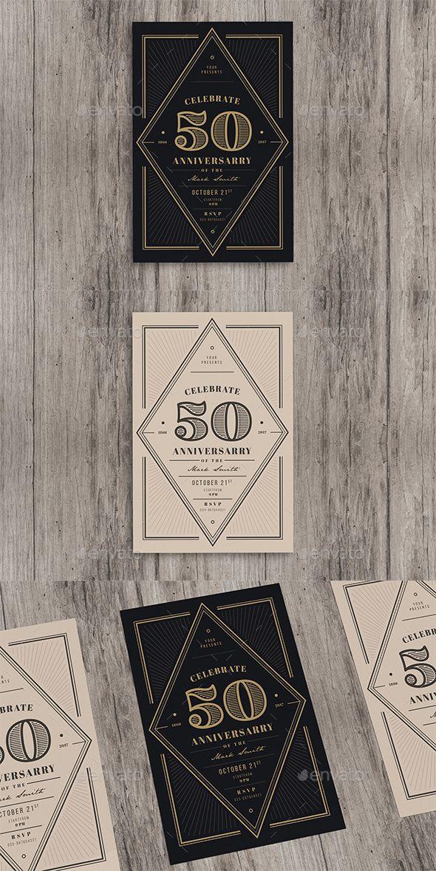 Vintage Anniversary Invitation Creative Project