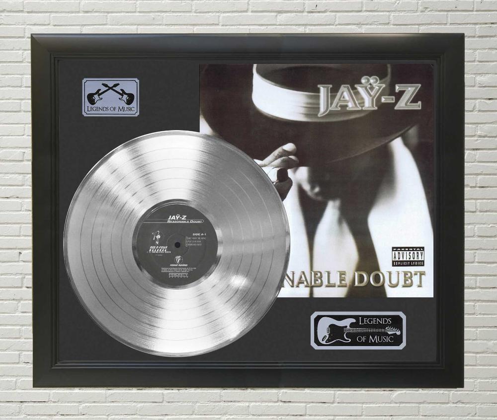 Jay Z Reasonable Doubt Framed Platinum Lp Record Display C3 Record Display Vinyl Record Display Lp Record Display