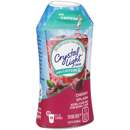 Crystal Light Liquid With Caffeine Cherry Splash 1 62 Ounce Mixed Drinks Crystal Light Drink Mix Best Flavored Water