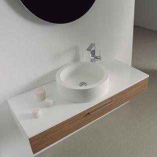 Designer Vanity Units For Bathroom Mesmerizing Milano Stone Vogue Large Wall Mounted Designer Bathroom Vanity Inspiration
