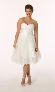 Plus Size Casual Short Wedding Dresses