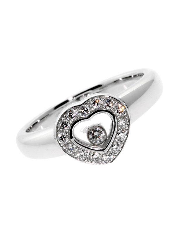 d68b5c64309 CHOPARD HAPPY DIAMOND RING IN 18K WHITE GOLD