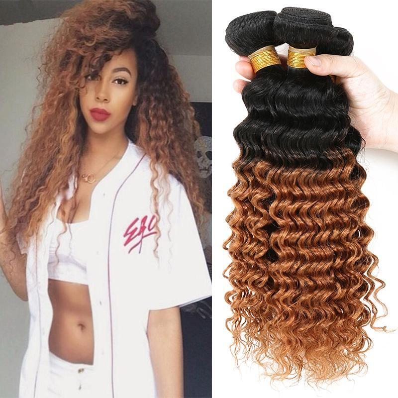 Brazilian Hair Bundles Kinky Curly Weave Human Hair Extensions 1b