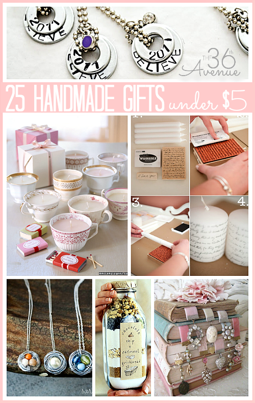 25 handmade gifts for under 5 dollars at the36thavenuecom handmade items are not just beautiful but special - Christmas Gifts Under 5 Dollars