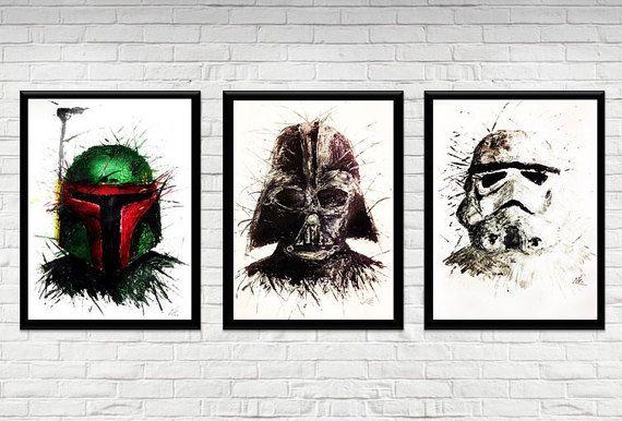 Star Wars Boba Fett Darth Vader And Stormtrooper Fan Art