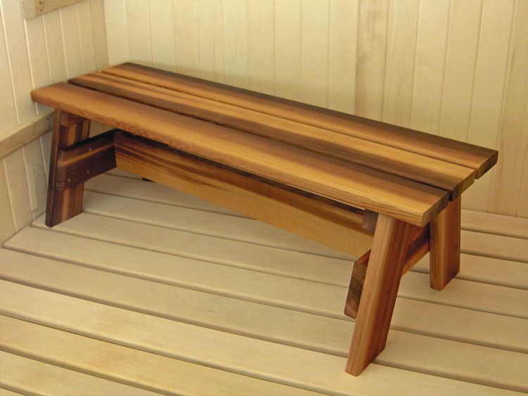 Sauna bench handrails are recommended for bench designs that stop ...