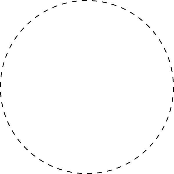 Dashed Circle Circle Cake Logo Design Free Brochure Template